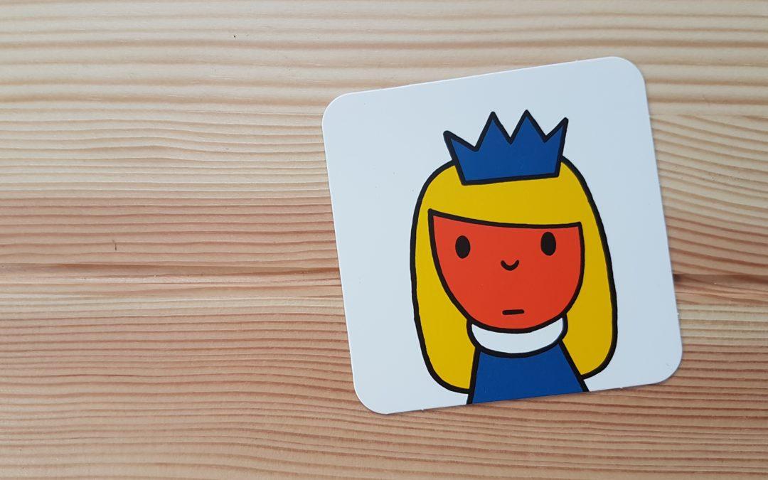 Een prinses met een vetrolletje