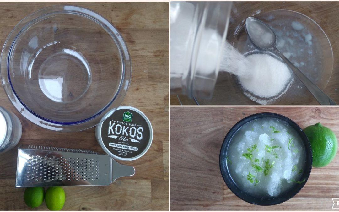 Vrucht van de Geest: DIY scrub met kokosolie en limoen