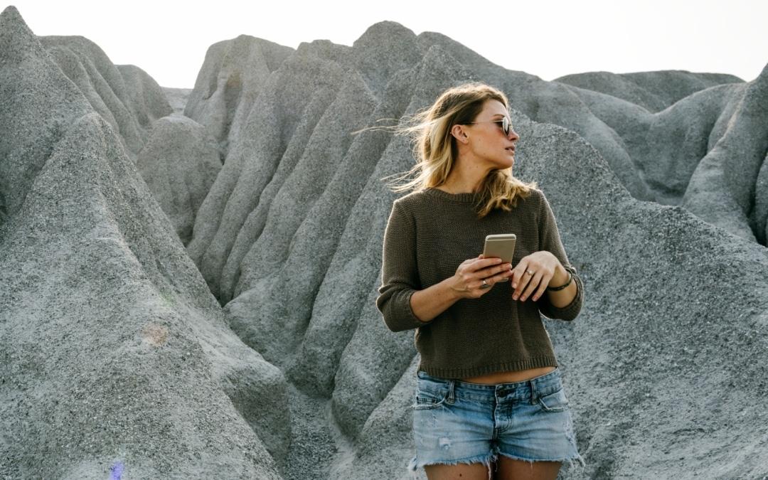 Een appje in de woestijn