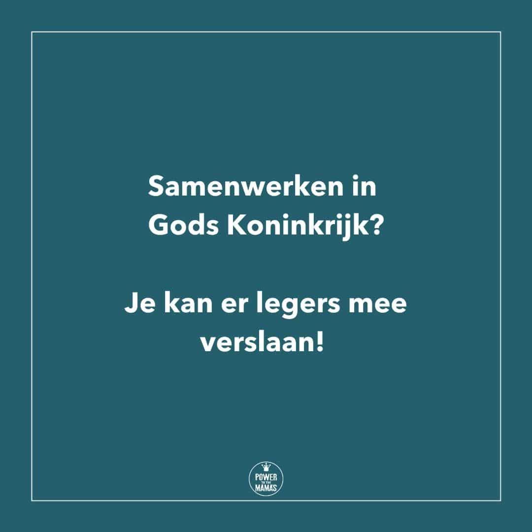 Samenwerken in Gods Koninkrijk