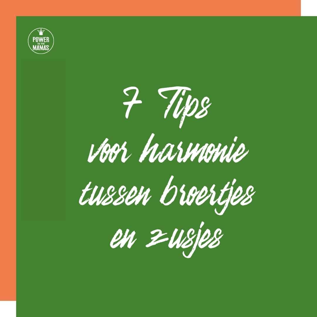 7 tips voor harmonie